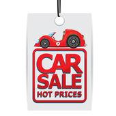 Car sale design template with car Vector illustration