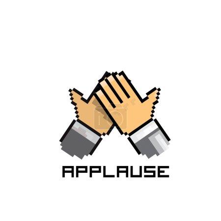 Applause vector icon pixel. social media icon