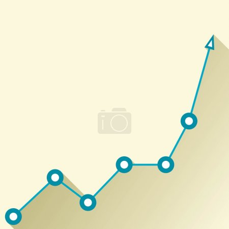 Illustration for Business graph and chart. vector illustration - Royalty Free Image