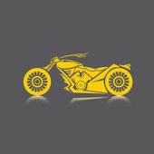 Vector Silhouette of classic motorcycle vector motorcycle icon