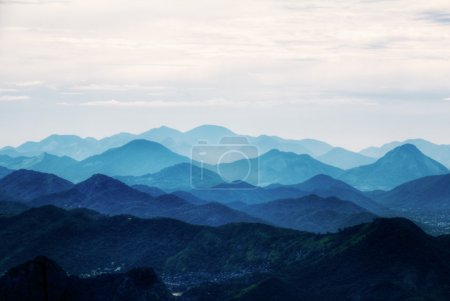 Photo for View on mountains from Corcovado, Rio de Janeiro, Brazil - Royalty Free Image