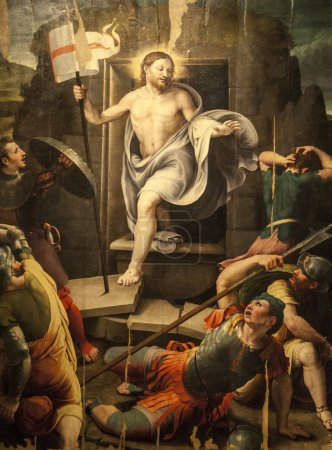 Resurrection, painting in the Sansepolcro Cathedral
