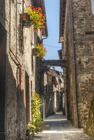 Photo for Filetto (Lunigiana, Massa Carrara, Tuscany, Italy) - Street of the ancient village - Royalty Free Image