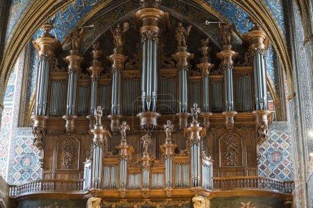 Photo pour Albi (tarn, midi-pyrenees, france) - intérieur de la cathédrale historique : l'orgue - image libre de droit