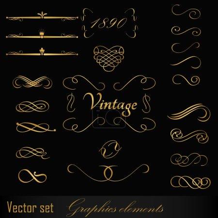 Illustration for Vintage design elements - Royalty Free Image