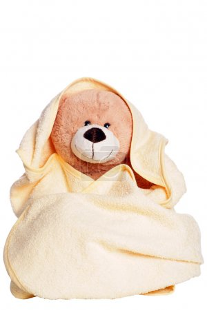 Teddy with towel...