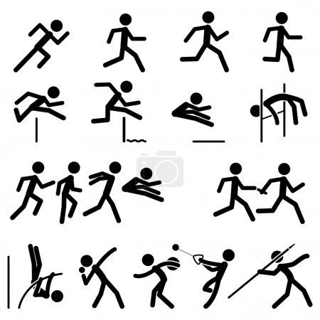 Sport Pictogram Icon Set 02 Track & Field