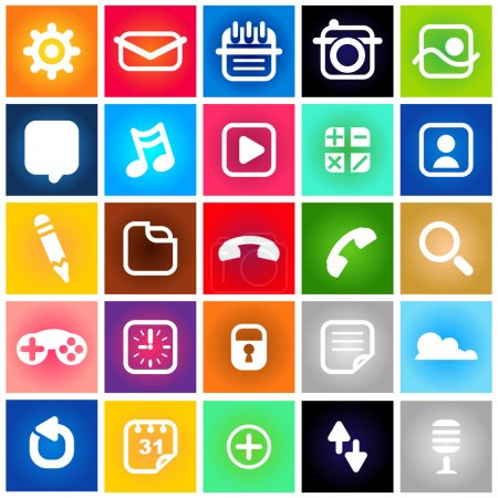 Metro Style Collection Set of Icons....