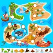 Various Exotic Location from Pirate Treasure Map F...