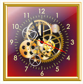 Time clock mechanism vector illustration EPS clip art
