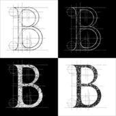 Dekorative symbol B vector illustration clip art