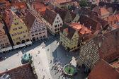 Market place in Rothenburg ob der Tauber, Germany
