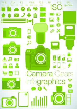 Camera focused Info graphics