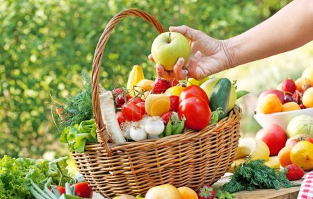 Choose fresh, organic fruits and vegetables