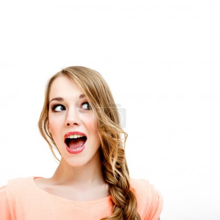 Photo for Young woman shocked - Royalty Free Image
