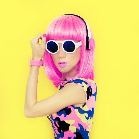 bright fashion girl music style