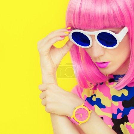 bright fashion girl glamor style