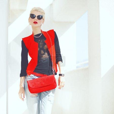 Fashion portrait of a stylish girl.