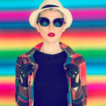 glamorous girl hipster style