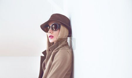 Photo for Stylish lady in fashionable hat - Royalty Free Image
