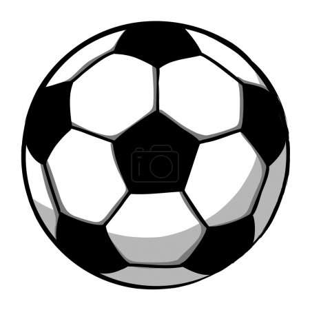 Hand writing soccer ball