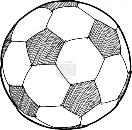 Hand writing soccer ball ( Football ) cartoon .