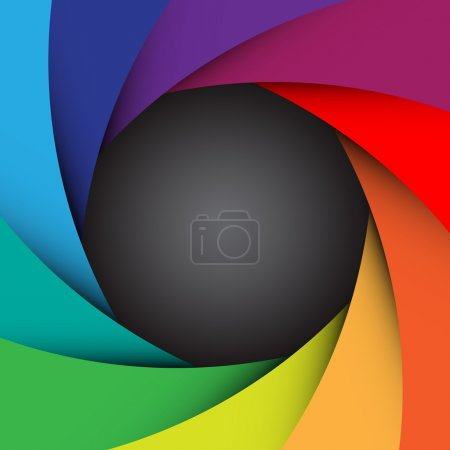Colorful camera shutter background,Illustration eps10