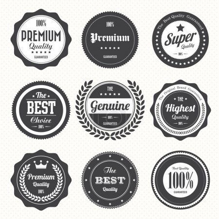Illustration for Set of retro vintage badges and labels.eps10 - Royalty Free Image