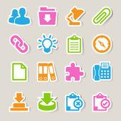 Office sticker icons set