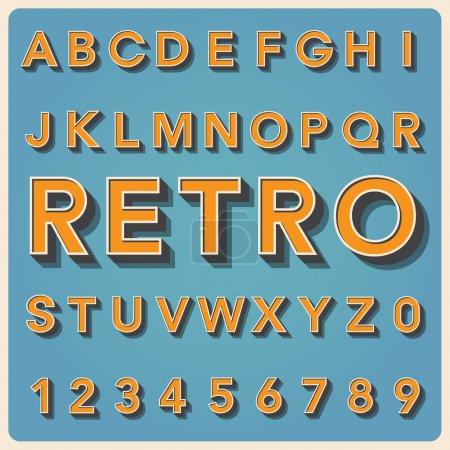 Illustration pour Fonte de caractères rétro, typographie vintage, Illustratiom EPS10 - image libre de droit