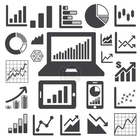 Illustration for Business Graph icon set.Illustration eps10 - Royalty Free Image