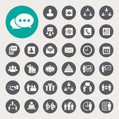 Business icons set Illustration eps 10