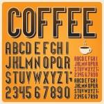 Retro type font, vintage typography ,Illustratiom ...