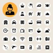 Hotel and travel icon setIllustration eps10