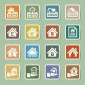 House insurance icons Set Illustration