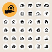 Houses icons set Real estate