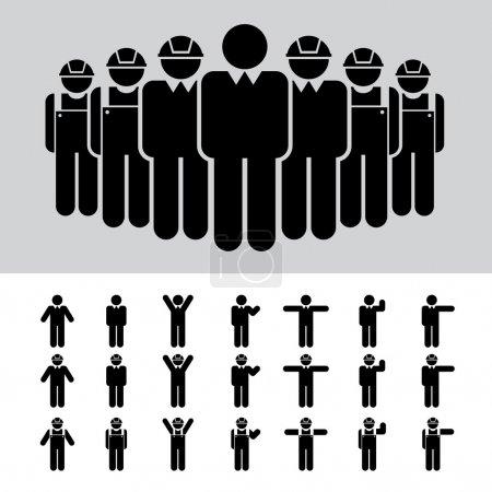 Illustration pour Ensemble d'icônes homme d'affaires  . - image libre de droit