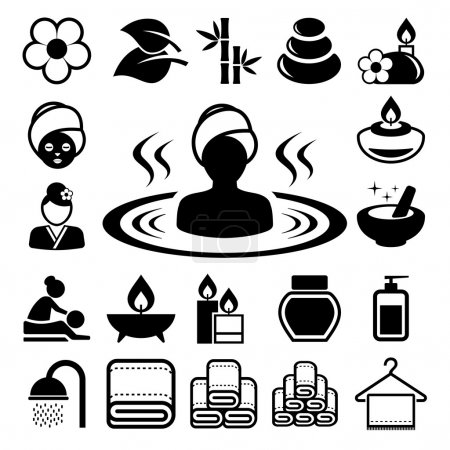 Illustration for Spa icons set .Illustration. - Royalty Free Image