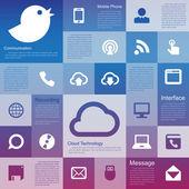 Flat design interface icon set