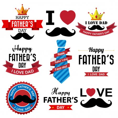 Illustration for Happy fathers day vintage retro type font - Royalty Free Image