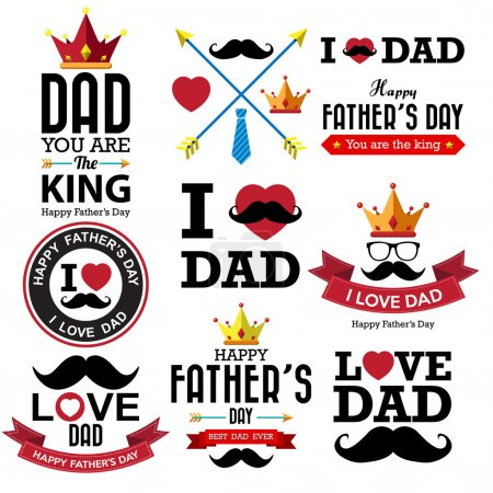 Happy fathers day vintage retro type font...
