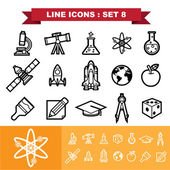 Line icons set Illustration