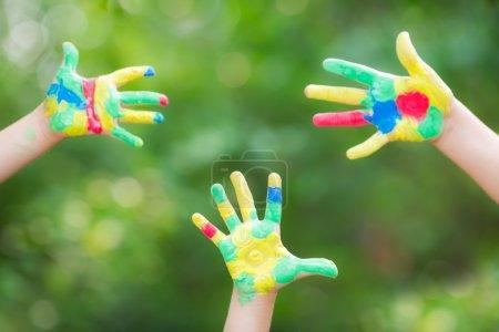 Photo pour Bonnes mains à l'extérieur - image libre de droit