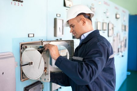 Engineer working at control room
