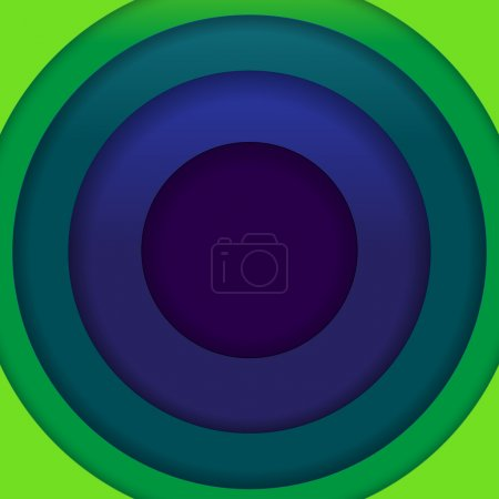 Abstract blue and green paper circles background