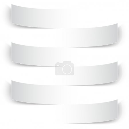 Photo for Blank paper stripe banners with shadows. - Royalty Free Image