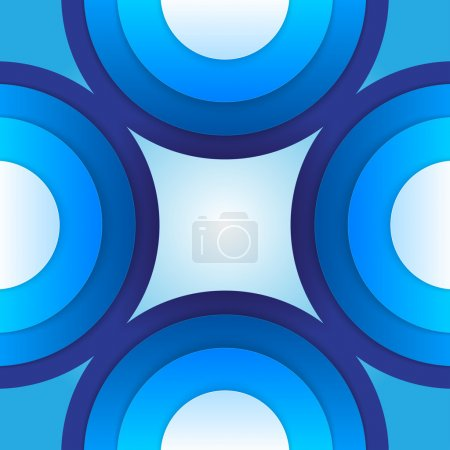 Abstract blue paper circles background