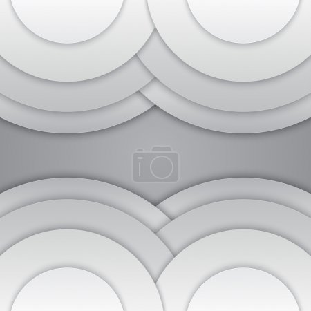 Abstract grey paper circles background