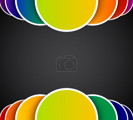 Bright abstract background with colorful circles