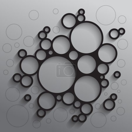 Abstract background with black circles